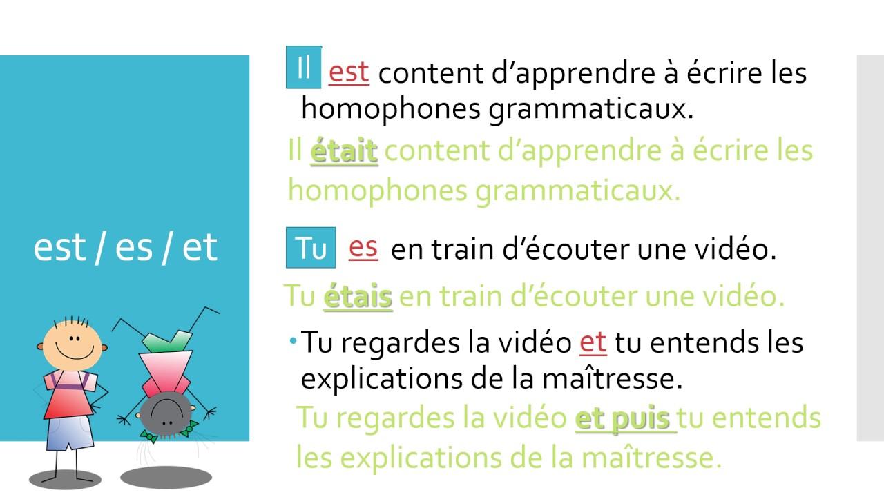 Top Vidéo-leçon - Les homophones grammaticaux - YouTube LO74