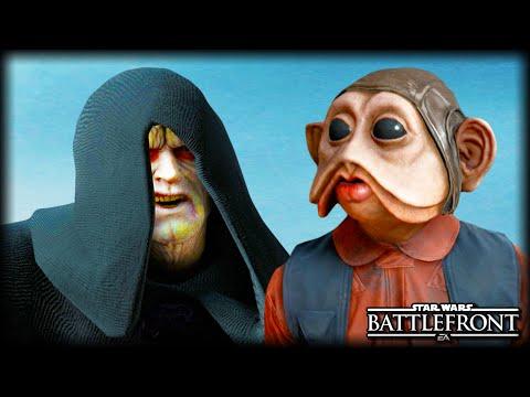When Emperor Palpatine Meets Nien Nunb : STAR WARS Battlefront Machinima