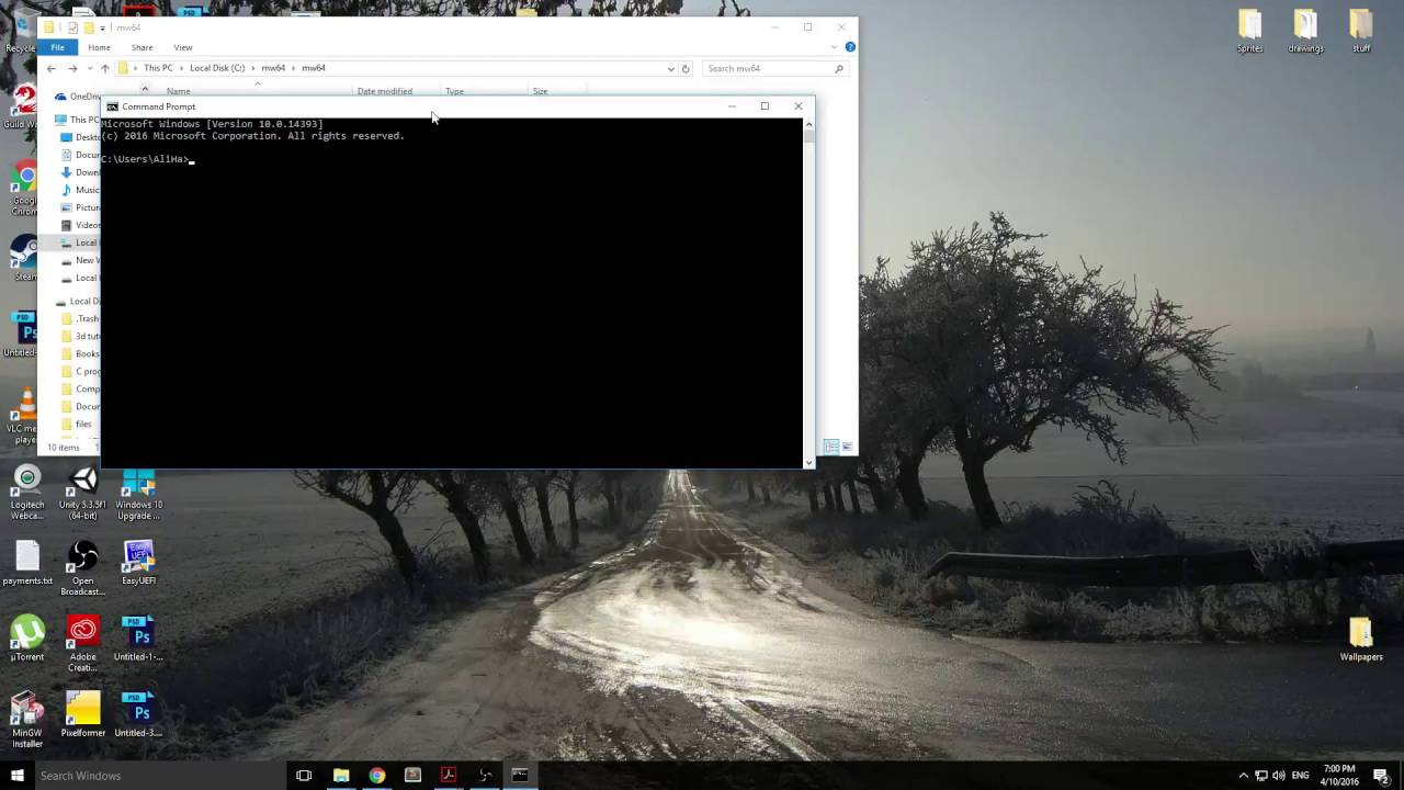 Install Mingw 64 bit for Windows and build compile install GLEW library  from source for Windows