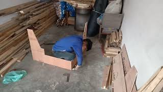 #wood How to make corner sofa set frame