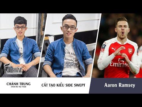 Cắt tạo kiểu Undercut Side Swept | Phong cách Aaron Ramsey Arsenal | Chánh Trung
