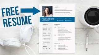 FREE RESUME TEMPLATE latest professional - DOC+PSD+Ai