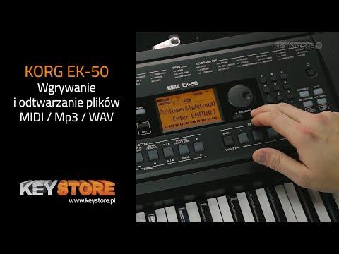 KORG EK-50 - Wgrywanie I Odtwarzanie Plików MIDI, Mp3, WAV