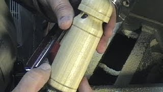 Turning A Wooden Train Whistle