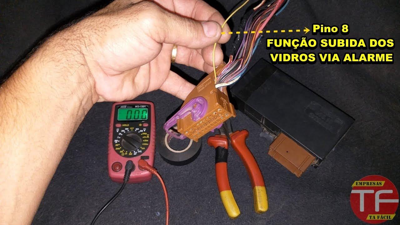 9a7012c8bff Pino 8 do conector do módulo de vidro elétrico original Fiat para subir  vidro via alarme. - YouTube