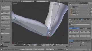 Blender 3D : corrective shape keys in Blender:how to correctly animate a bending arm /HD