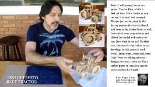 Osni Chioveto Designs Wood Toy Race Tractor