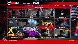 WWE 2K16 Create An Arena! - Creating The Monday Night Walker Arena