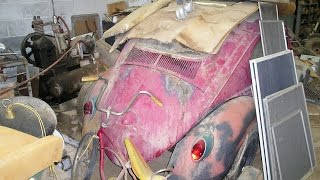 Barn Find 1956 Volkswagen Bug is Alexa's first car.  VW Bug Beetle Ragtop Euro.