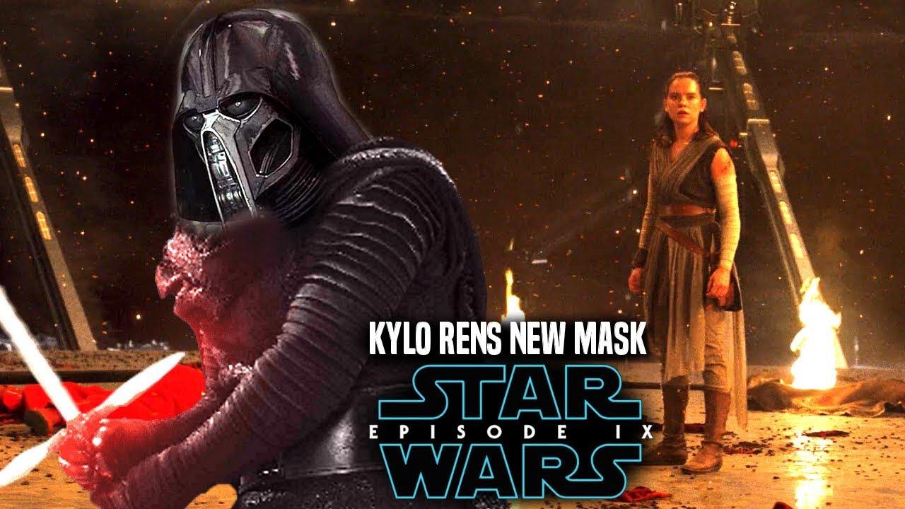 Star Wars Episode 9 Kylo Ren's NEW Mask! Leaked Details & More