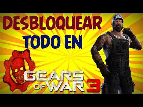 COMO DESBLOQUEAR TODO EN GEARS OF WAR 3 [PASO A PASO] [FUNCIONANDO 2017]