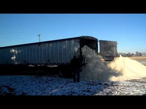 Unloading gypsum