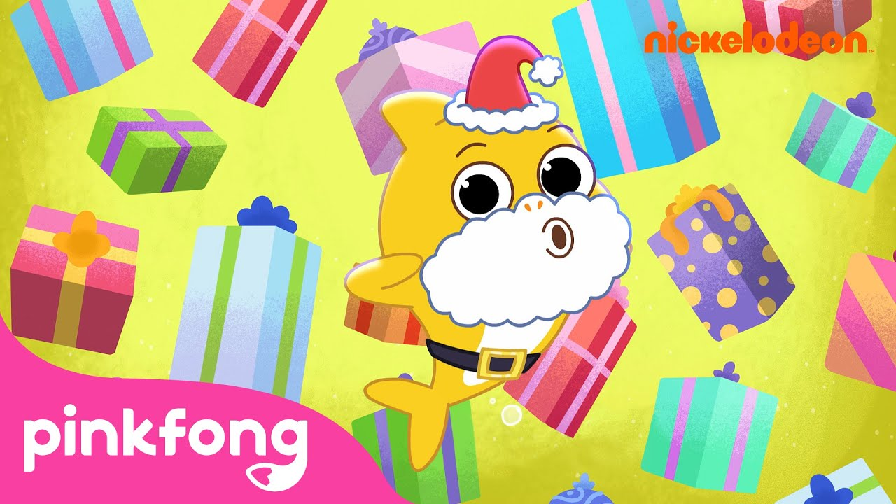 Giving Gifts | Baby Shark's Big Fishmas | Baby Shark Music Video | Christmas Sharks | Nickelodeon