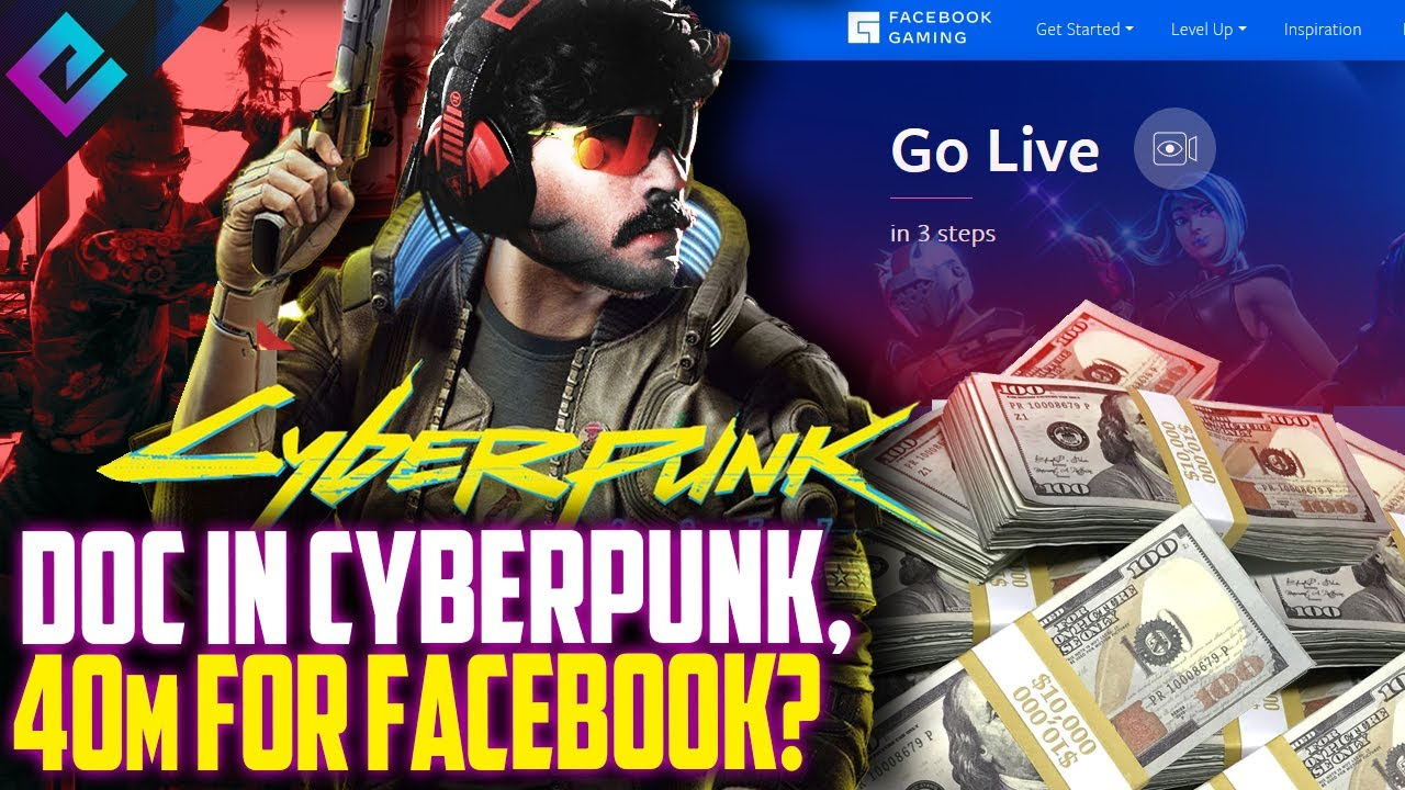 $40 Million for Dr Disrespect to Facebook Gaming, Doc Hints Cyberpunk 2077 Appearance