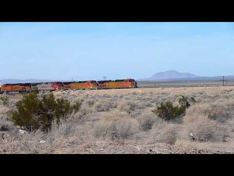 Train passing by near Boron CA