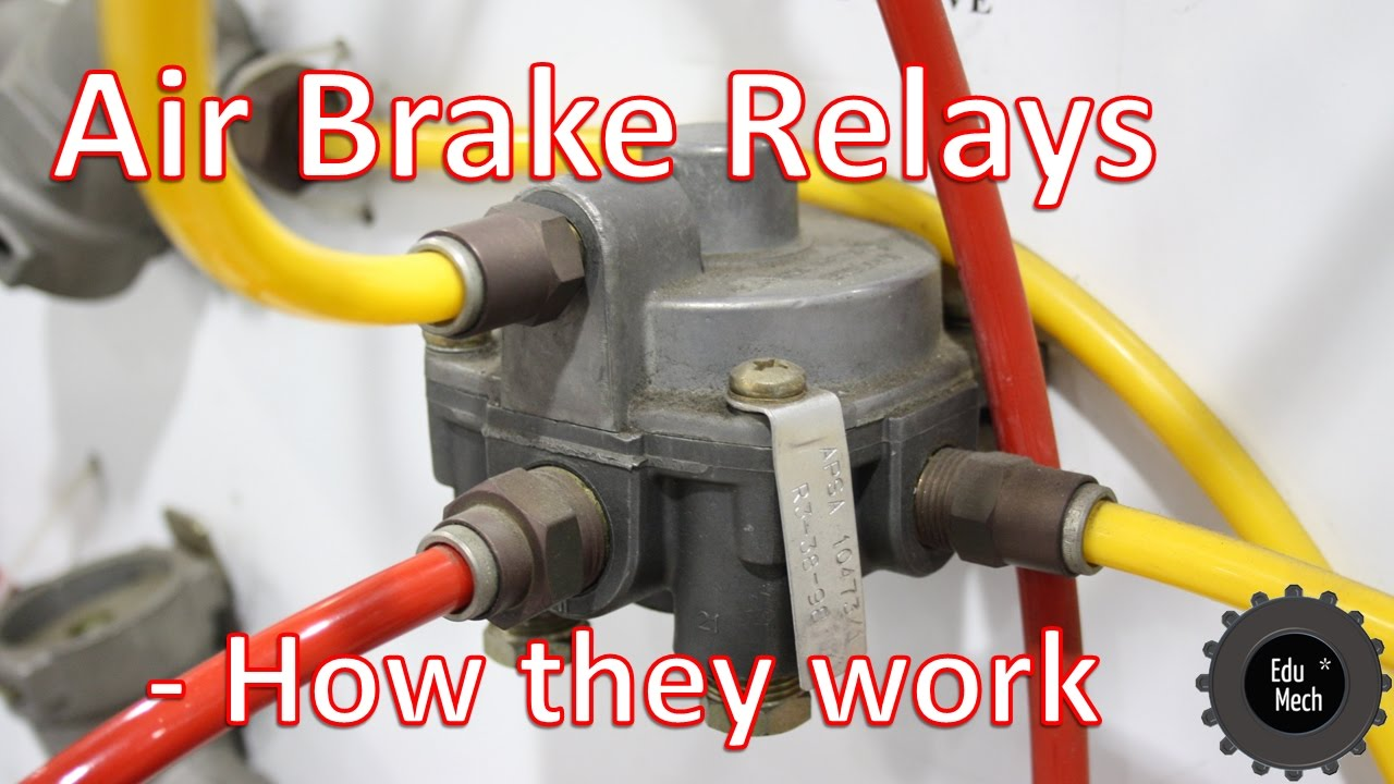 air brake relay how it works air braking systems and commercial rh youtube com Air Brake Drum Diagram Truck Air Brakes Diagram