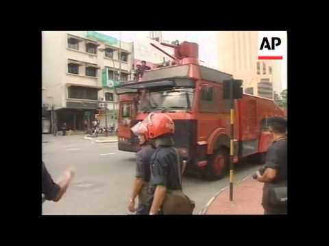 MALAYSIA: ANWAR: PROTESTORS CLASH WITH POLICE