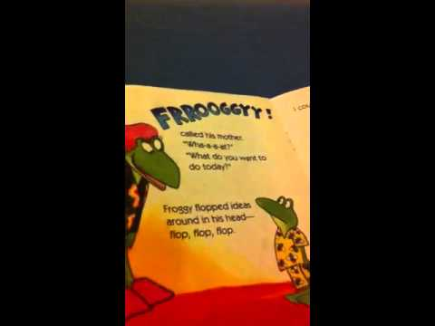 Haley reading froggy loves books