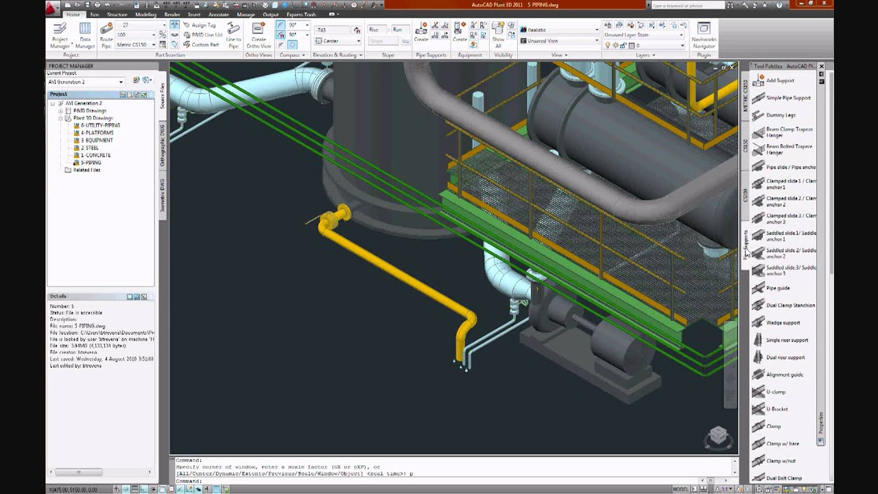 Autocad plant 3d start to finish high res with for Plante 3d dwg