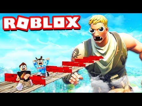 ESCAPE THE FORTNITE OBBY IN ROBLOX! with PrestonPlayz & MooseCraft roblox parkour