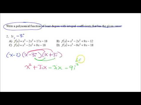 U3P1 Commonly Missed   Polynomial from Zeros B