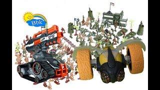 Домашние сражения игрушек ↑ Военные солдатики, нёрфы, машины роботы ↑ Обзор игрушек