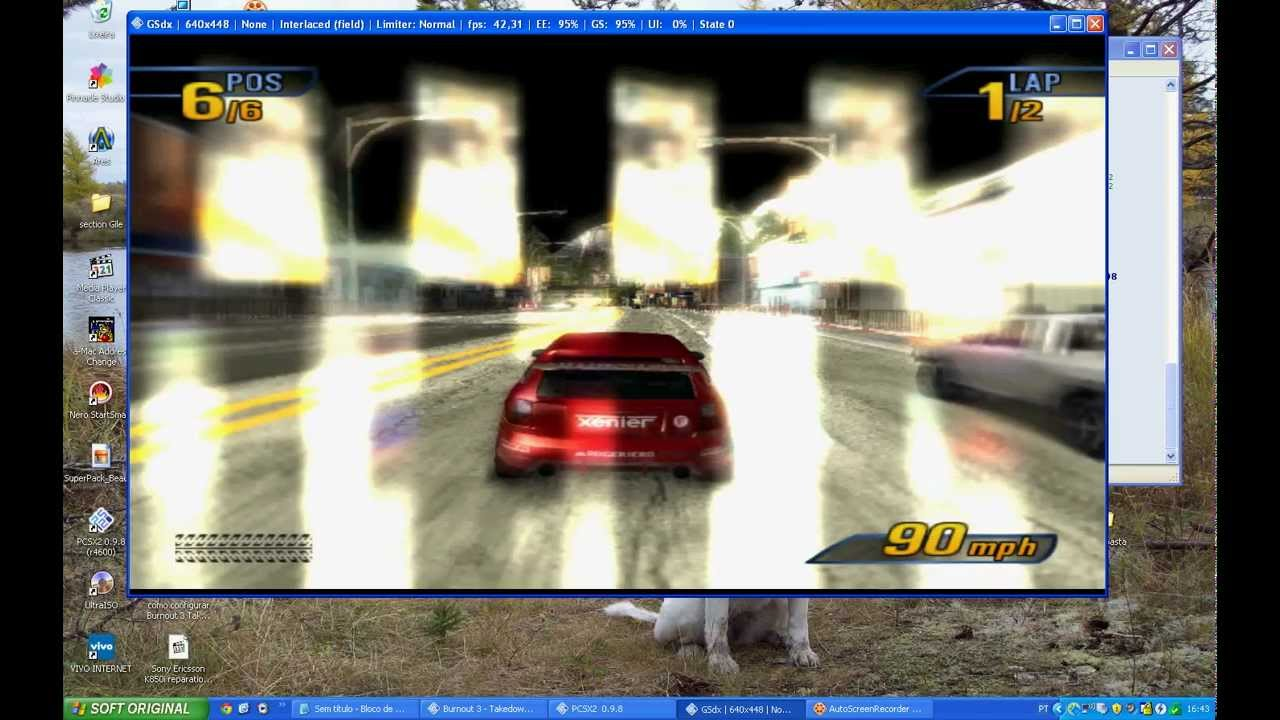 como configurar Burnout 3 Takedown PCSX2