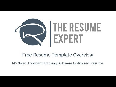 Free ATS-Optimized MS Word Resume Template Overview