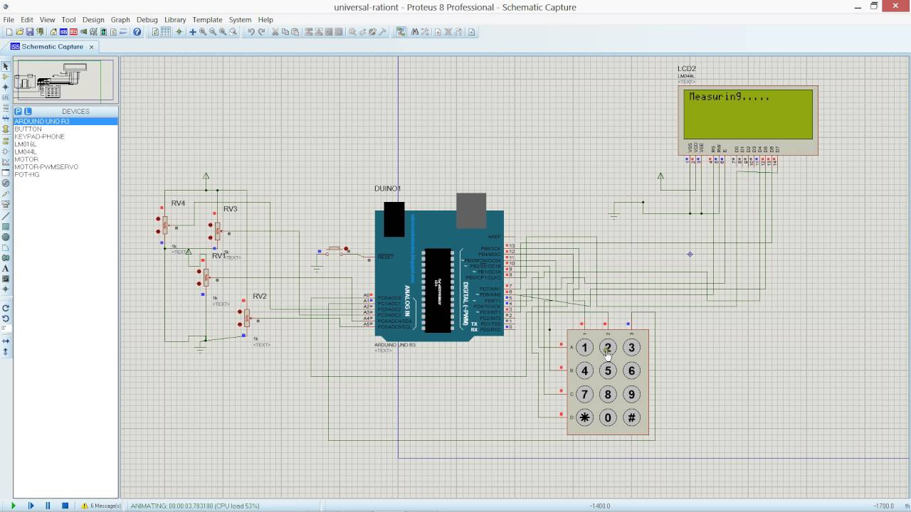 electrical fault detector using arduino simulation proteus [ 1280 x 720 Pixel ]