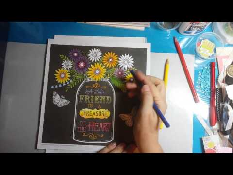 Color Book Blending with just Three Colored Pencils