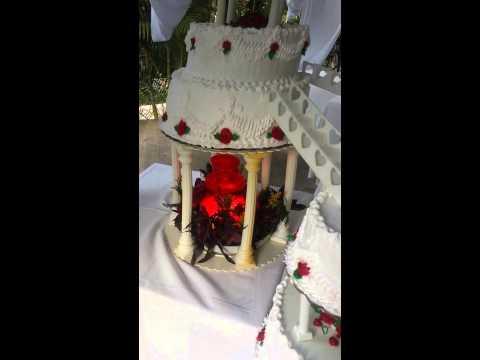 Pastel de boda modelo fuente y dobles escaleras youtube - Modelos de escaleras ...