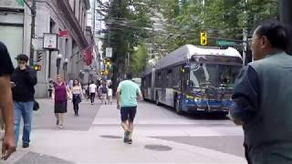 Walking in Downtown Vancouver BC Canada - City Life on Granville Street - 2018