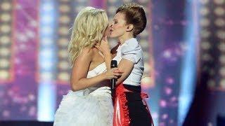 """2-ой полуфинал """"Евровиденья"""": лесбийский поцелуй и..."""