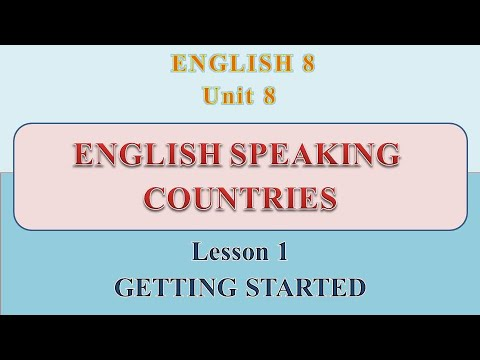 [ANH 8] UNIT 8 ENGLISH SPEAKING COUNTRIES – Lesson 1