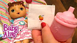 Baby Alive Better Now Bailey Doll Kitty Feeding with Zoe's Mystery Doll Juice Packet