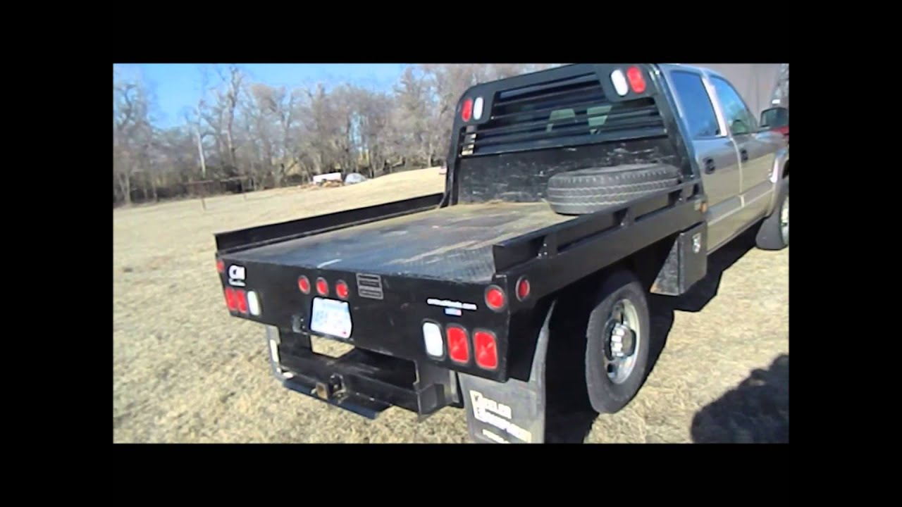 2005 Chevrolet Silverado 2500HD Crew Cab flatbed pickup truck | auction February 25, 2015 - YouTube