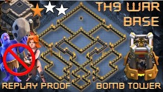 TH 9 (TOWN HALL 9) ANTI 2 STARS WAR BASE WITH BOMB TOWER || NEW UPDATE || CLASH OF CLANS