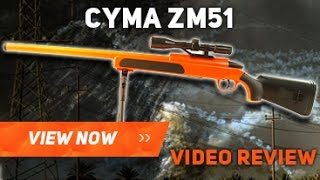 CYMA ZM51 BB GUN AIRSOFT REVIEW UNBOXING