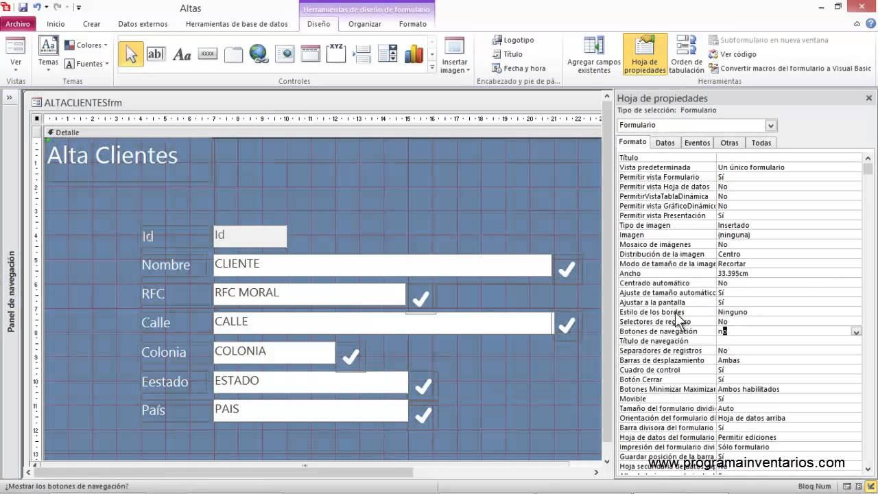 Access 2010 Truco Formulario Estilo Windows8 Youtube