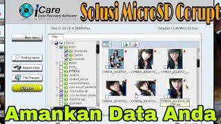 Cara Kembalikan Data Pada Microsd / Flashdisk Yang Tidak Terbaca / Corupt