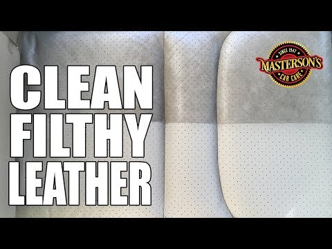 How To SUPER Clean Leather Seats - Masterson's Car Care - Detailing Tricks