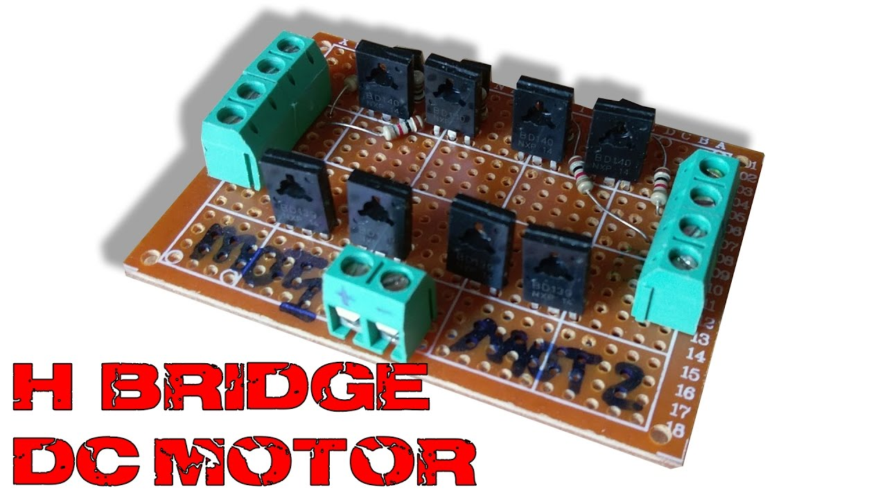 Dc Motor Control The Hbridge Pyroelectro News Projects