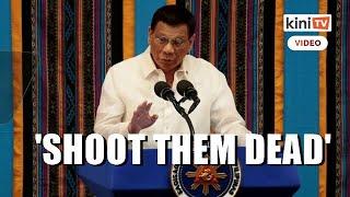 'Shoot them dead' - Duterte says won't tolerate lockdown violators