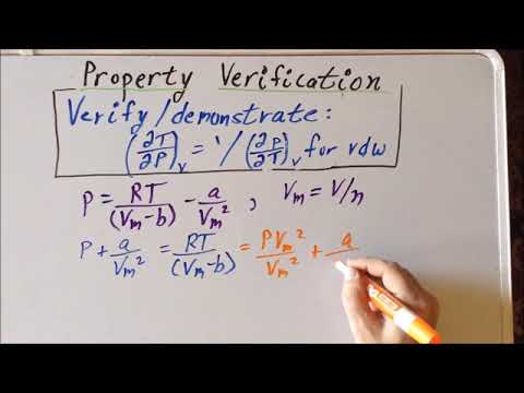 Thermodynamics: partial derivative property verification