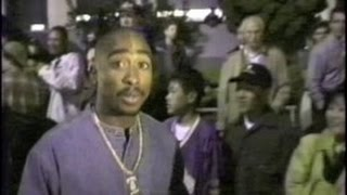 SUGE KNIGHT and TUPAC SHAKUR leave Lakers-Bulls basketball game with MC HAMMER