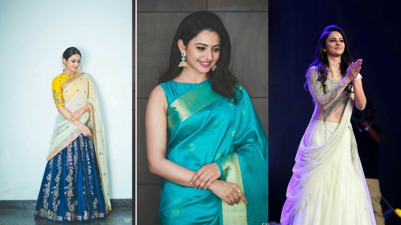 bca2c69a93 Rakul preet singh Indian saree lookbook|Indian wedding guest outfit ideas