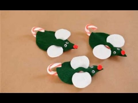How to Make a Minty Mouse Ornament - Christmas Craft - YouTube