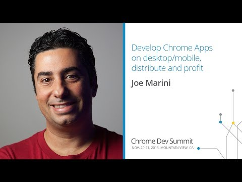 Develop Chrome Apps on desktop/mobile, distribute and profit