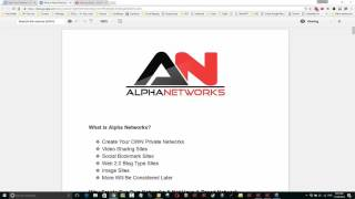 Alpha Networks,  An Overview Of Our New Private Network System