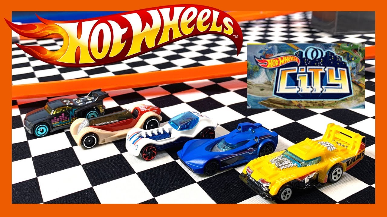 NEW Hot Wheels 2020 City 5 Pack on the Track!!!